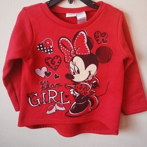Red Disney minnie mouse sweatshirt